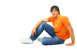 Young satisfied man Stock Image