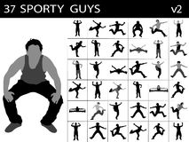 Young sporty males Royalty Free Stock Photos