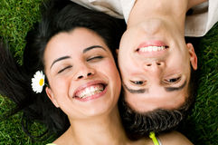Young teen couple have fun Royalty Free Stock Photos