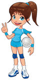 Young volleyball player. Royalty Free Stock Image