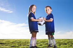 Youth Soccer Players Stock Image
