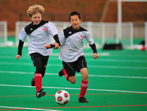 Youth soccer team mates Royalty Free Stock Photo