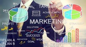 Zakenmantekening marketing concepten Royalty-vrije Stock Foto