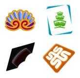 Zeichen-Ikone stellte 4 ein Lizenzfreie Stockfotos