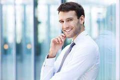 Zekere bedrijfsmens Stock Fotografie