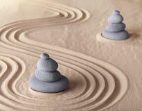 Zen meditation garden harmony and serenity Royalty Free Stock Photos