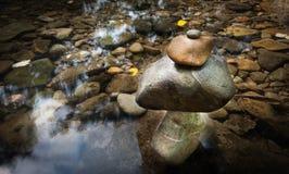Zen meditation landscape. Calm and spiritual nature environment. Royalty Free Stock Image