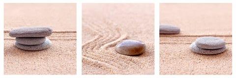 Zen Sand and stones Royalty Free Stock Photo