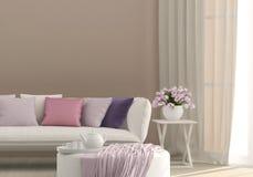 Zonnige woonkamer Royalty-vrije Stock Afbeelding