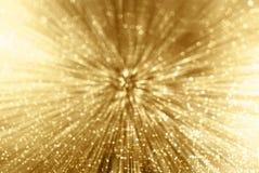 Zoom da faísca do ouro Foto de Stock Royalty Free