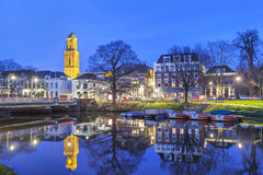 Zwolle in the evening, Netherlands Royalty Free Stock Photo